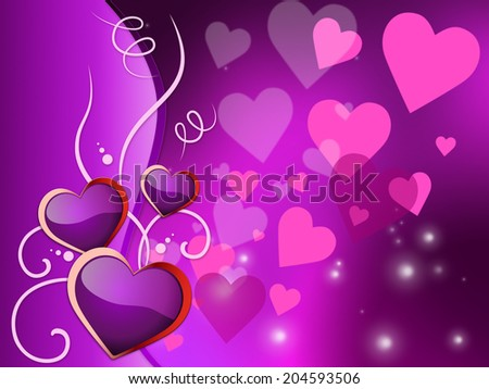 Background Hearts Indicating Abstract Romance And Valentine