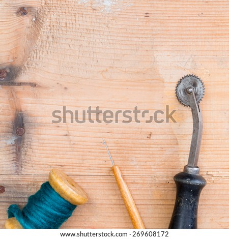 background hobby sewing - stock photo