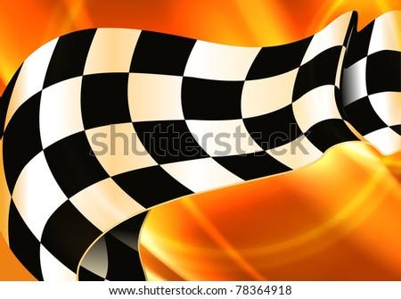 Background Horizontal Checkered, bitmap copy - stock photo