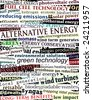 Background illustration of alternative energy newspaper headlines (vector file also available) - stock photo