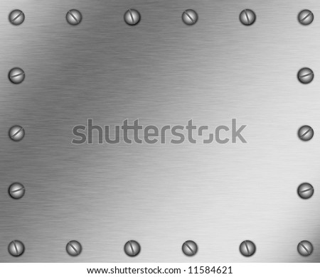 background image of a metal plate with screws