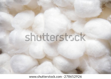background image of cotton wool balls shot close up - stock photo