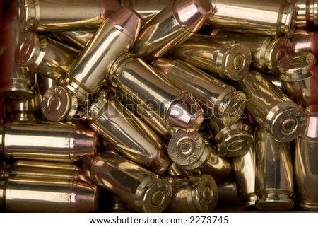 Background image of .40 S&W Ammunition - stock photo