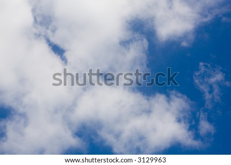 background image of the sky, looking up at a blue sky with clouds