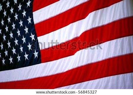 Background image of the United States of America flag - stock photo
