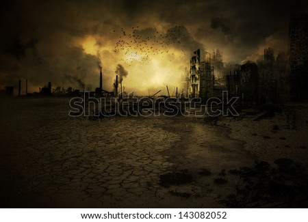 Background image with an apocalyptic scenario