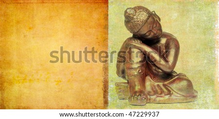 background image with buddha - stock photo