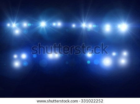 Background image with defocused blurred stage lights - stock photo