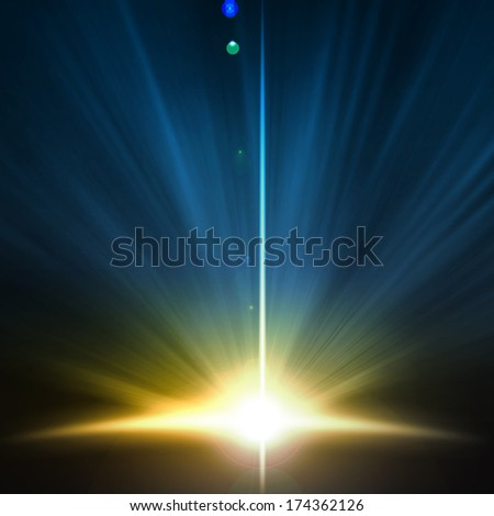 Background image with light beams and rays - stock photo