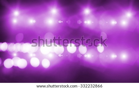 Background image with stage blurred lights and beams - stock photo
