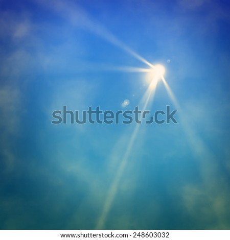 Background in show. Light of a searchlight beams through a smoke.  - stock photo