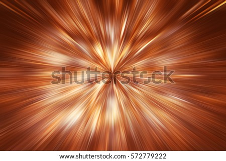 Background in the form of golden glowing rays. Soft focus. Motion blur. illustration digital