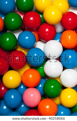 Background Macro of gumballs - stock photo