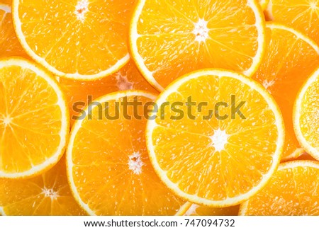 Background made from orange slices
