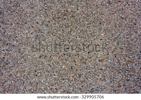 background made of a closeup of a pile of pebbles,litter rock texture - stock photo