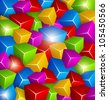 Background made of Colorful Cubes - RASTER version - stock photo