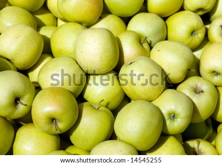 "Background made of ""Golden Delicious"" Apples"