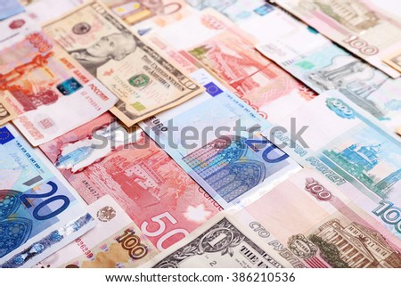 Background made of money banknotes - stock photo