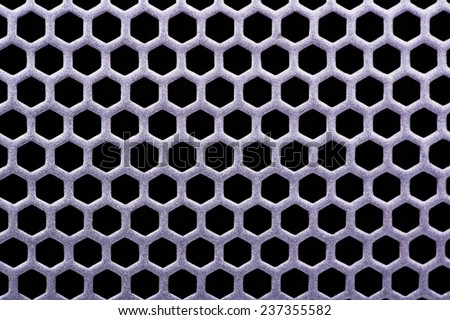 Background metal grate with holes - stock photo