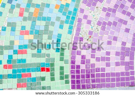 background Mosaic tiles from ceramic broken tile