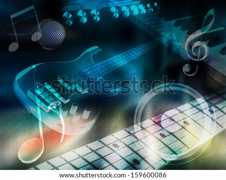 "Background ""music"" - stock photo"