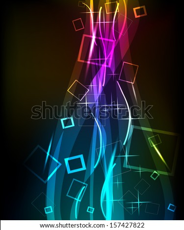 background neon abstract cover raster - stock photo
