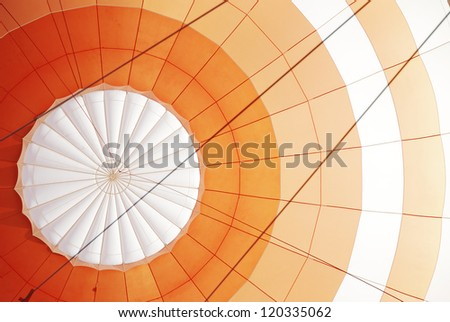 Background of a hot air balloon detail - stock photo