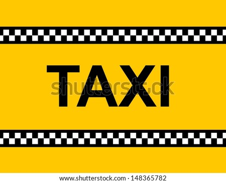 Background of a yellow taxi cab with text - stock photo