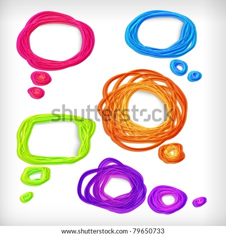 Background of abstract idea bubbles. - stock photo