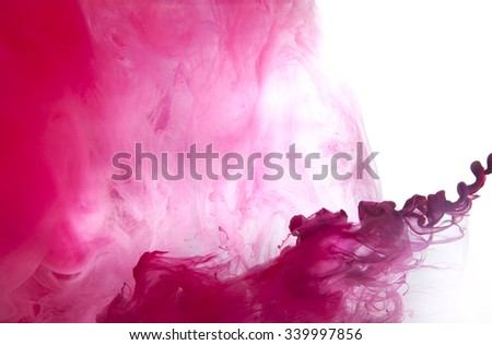 Background of acrylic paint in the water.  - stock photo