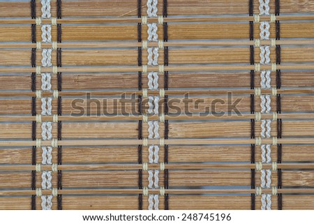 Background of bamboo curtain - stock photo