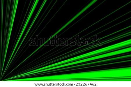 background of black green sunburst - digital high resolution - stock photo