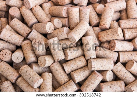 Background of blank wine corks - stock photo