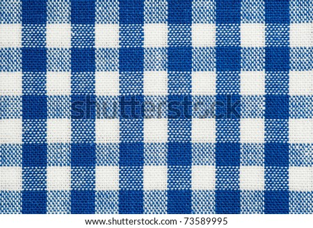 background of blue and white check picnic tablecloth fabric - stock photo