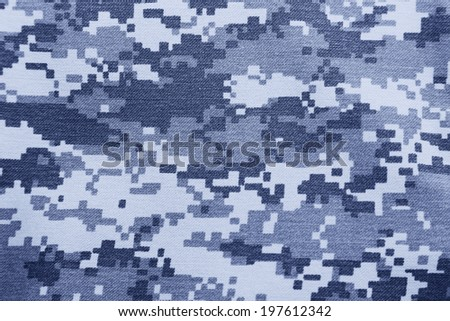 background of blue digital camouflage pattern - stock photo