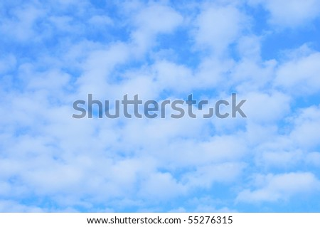 background of blue sky with white clouds - stock photo