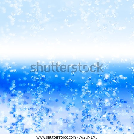 background of blue water - stock photo