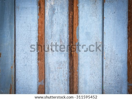 Background of blue wooden texture grunge style - stock photo