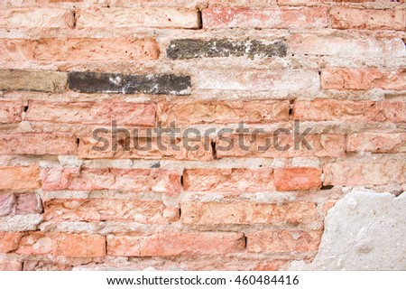 background of brick wall with vintage look   - stock photo