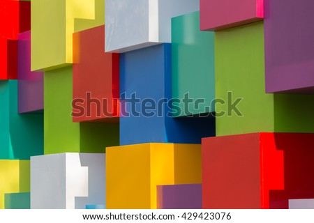 Background of bright geometric shapes