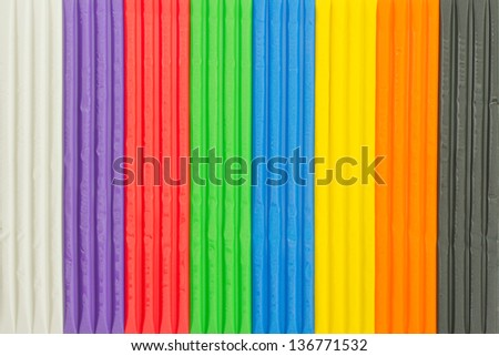 Background of brightly colored modelling clay