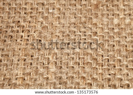 Background of burlap hessian sacking, coarse cloth made �¢??�¢??of linen/