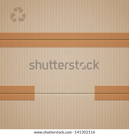 Background of cardboard. Raster version - stock photo