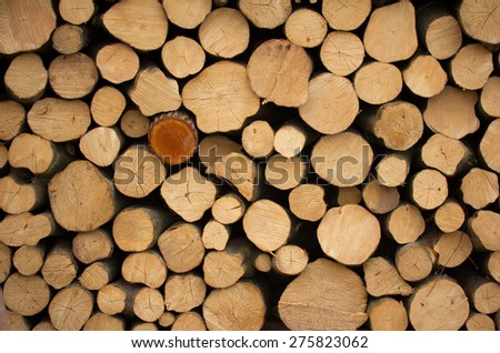 Background of chopped firewood - stock photo