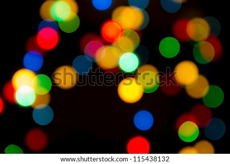 background of Christmas light