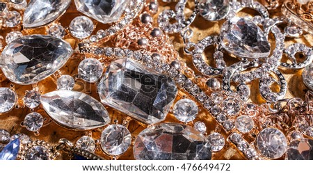 Background of close up of precious luxury diamond