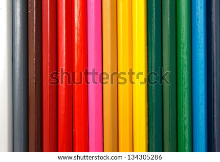 Background of color pencils