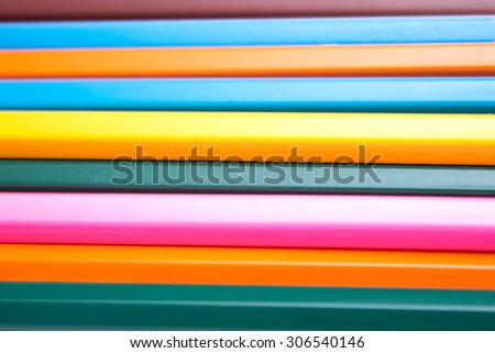 background of colored pencils - stock photo