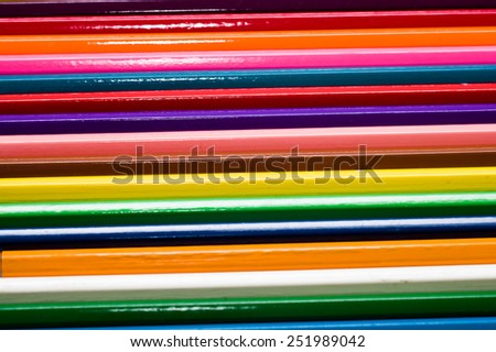 Background of colored wood pencils - stock photo