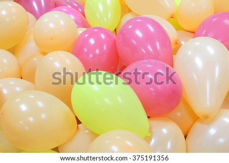 background of colorful balloons - stock photo